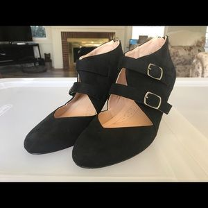 JC Womans Double Strap Ankle High Heels 6.5 New